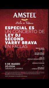 Cartel del concierto de Fallas