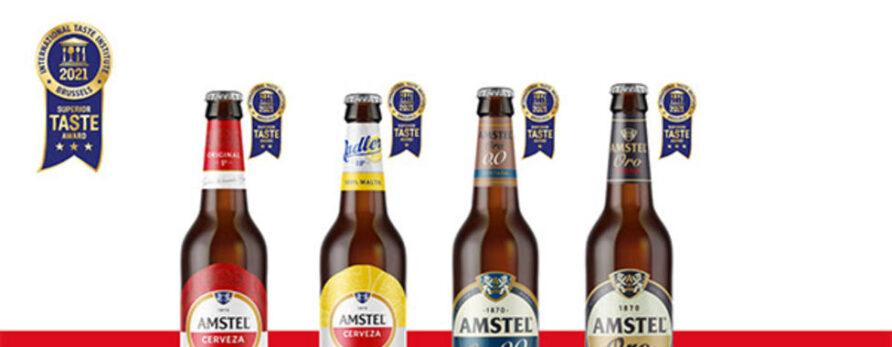 Las cervezas Amstel valencianas galardonadas en los Superior Taste Awards